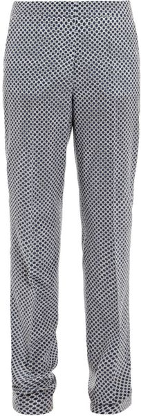 Stella Mccartney Hamilton Oriental Circleprint Trousers in Blue - Lyst