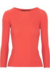 Thakoon Ribbed Pointelle Wool Sweater - Lyst