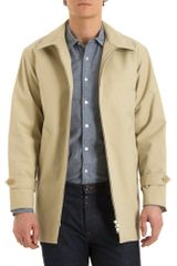 Agnes B. Large Collar Khaki Jacket - Lyst