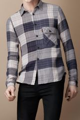 Burberry Brit Check Cotton Shirt - Lyst