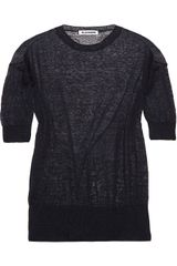 Jil Sander Open-knit Sweater - Lyst