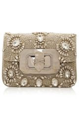 Marchesa Crystal Chain Strap Eve Bag