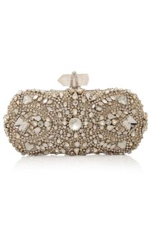 Marchesa Crystal Embroidered Clutch - Lyst