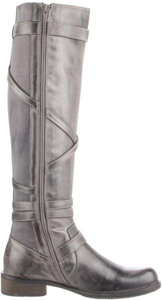 Miz Mooz Womens Kira Riding Boot In Gray Grey Lyst