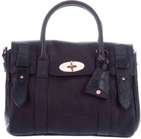 Mulberry Heritage Bayswater Shoulder Bag in Blue (navy)