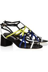 Oscar de la Renta Athena Color-block Leather Sandals - Lyst