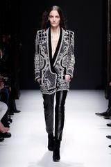 Balmain Fall 2012 Skinny Full Length Leather Pants In Black  in Black - Lyst