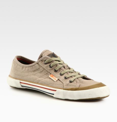 boss orange santers lace up sneakers in beige for men lyst. Black Bedroom Furniture Sets. Home Design Ideas