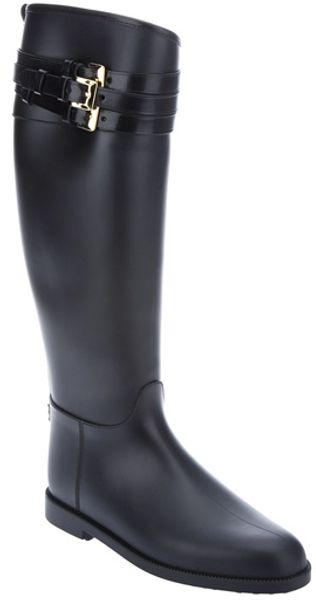Burberry Calf Length Boot - Lyst