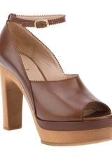 Chloé Calf Leather Sandal - Lyst