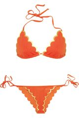 Chloé Scalloped Triangle Bikini in Orange - Lyst