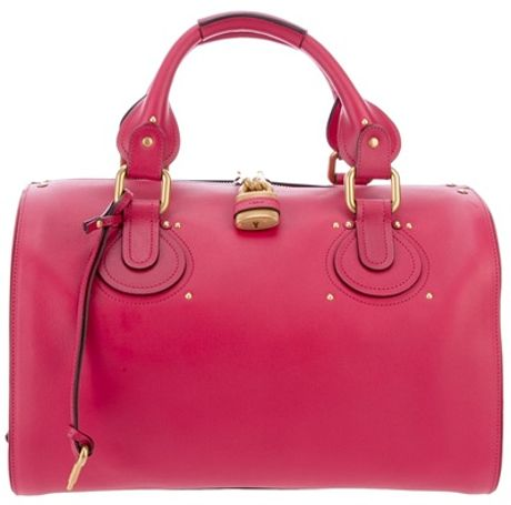 Chloé Aurore Duffel Bag in Pink