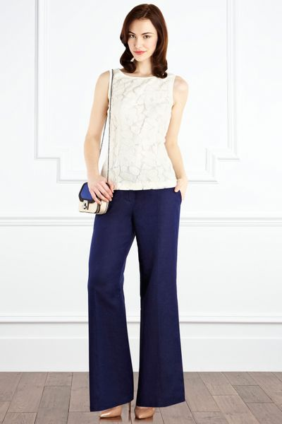 Coast Reva Lace Top in White (ivory) - Lyst