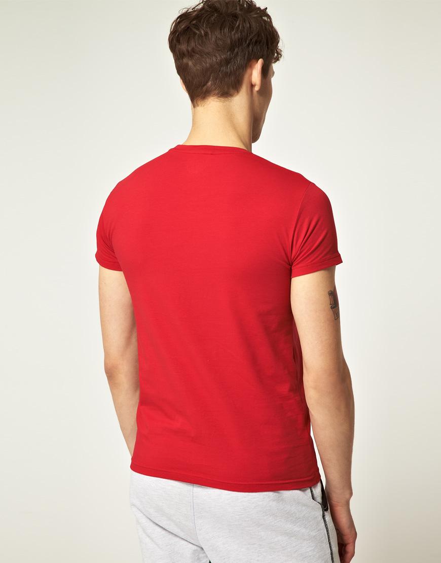 emporio armani red emporio armani crew neck t shirt product 2 2996284. Black Bedroom Furniture Sets. Home Design Ideas