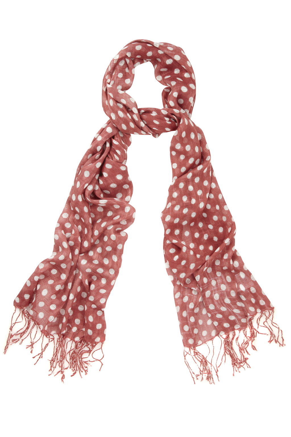 connection spotty dotty scarf in pink cheeky lyst