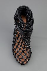 Givenchy Cage Sandals in Black - Lyst