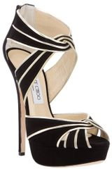 Jimmy Choo Suede Sandal in Black - Lyst