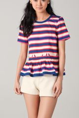 Marc By Marc Jacobs Flavin Striped Blouse - Lyst