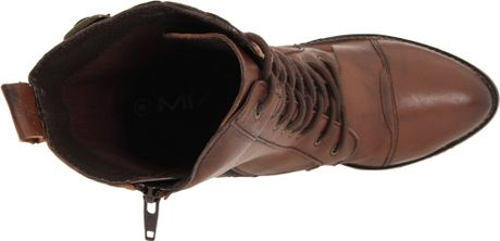 Mia Womens Nanette Lace Up Boot In Brown Antique Brown