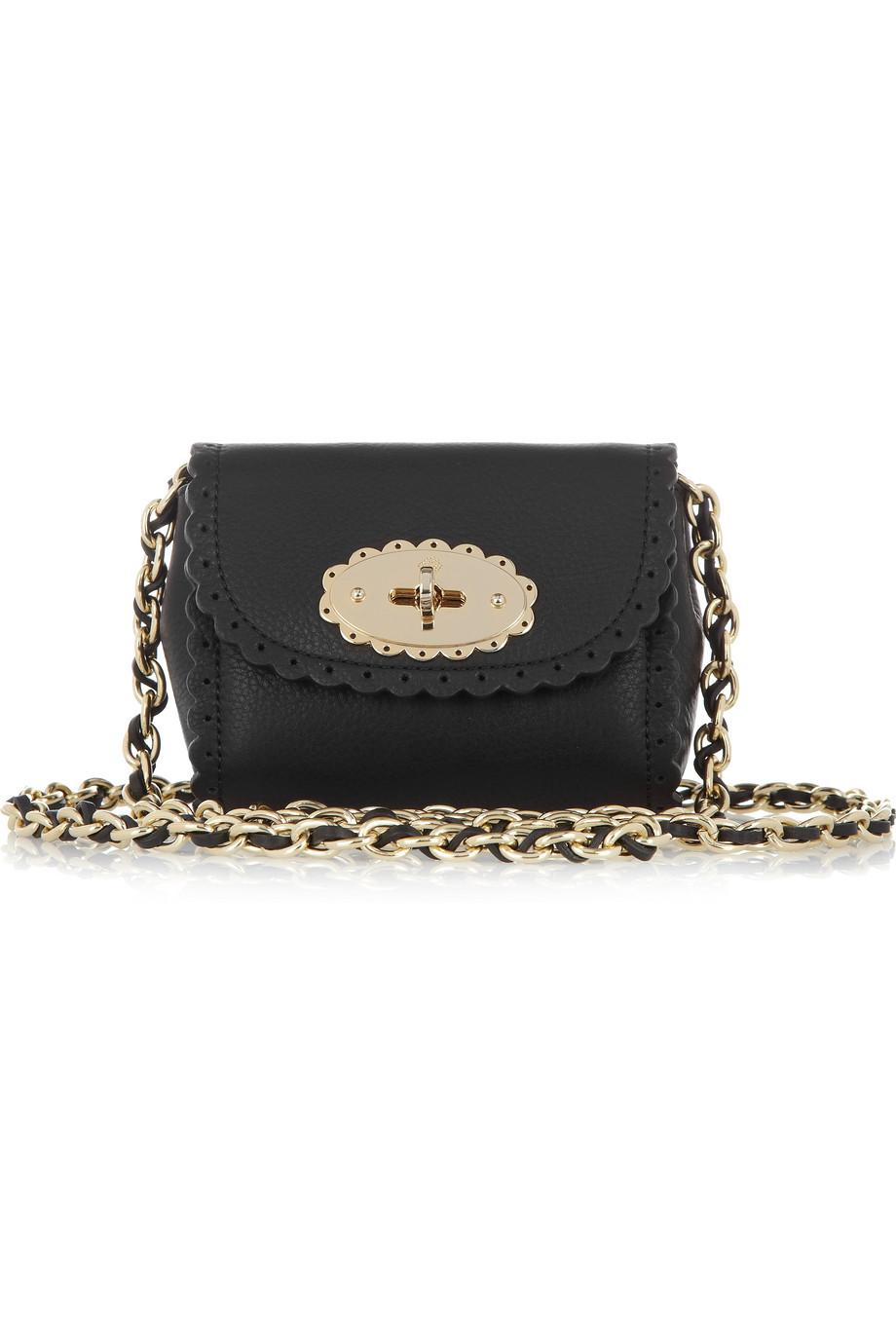 2e25e3fbc96b ... promo code for mulberry cookie mini leather bag in black lyst e91c1  6d351