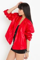 Nasty Gal Cherry Bomb Moto Jacket - Lyst