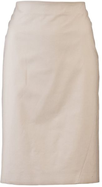 Piazza Sempione Pencil Skirt in Beige (khaki) - Lyst