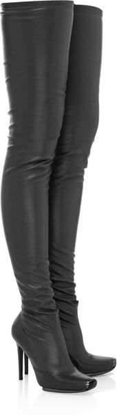 Stella McCartney Faux Leather Thigh Boots - Lyst