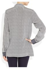 Stella Mccartney Goodwin Printed Silk Shirt in Gray (ink) - Lyst