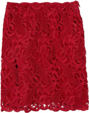 Valentino Macramé and Silk-organza Skirt - Lyst