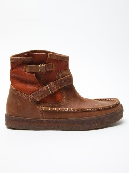 vans x taka hayashi mens engineer boots lx in brown for