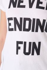Wildfox Never Ending Fun Tee in White - Lyst