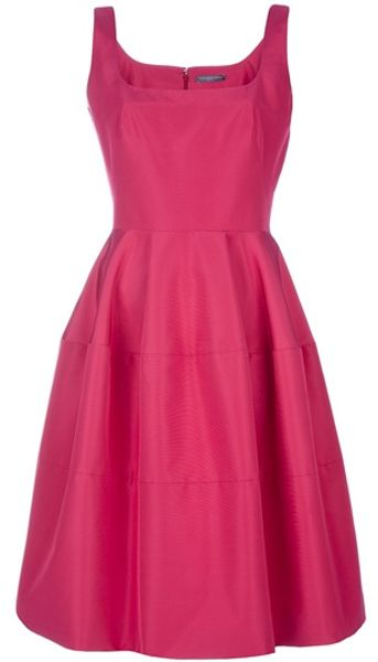 Alexander Mcqueen Cocktail Dress in Purple (raspberry) - Lyst