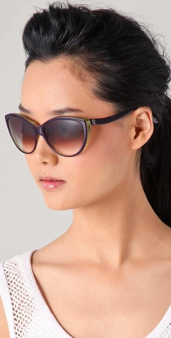 Alexander Mcqueen Cateye Sunglasses  alexander mcqueen cat eye sunglasses in green lyst