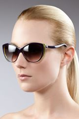 Alexander McQueen Cat-eye Sunglasses, Violet - Lyst