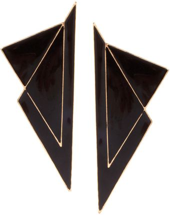 Ash Asos Double Triangle Flash Earrings - Lyst