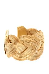 ASOS Collection Asos Curved Textured Interlinking Cuff - Lyst