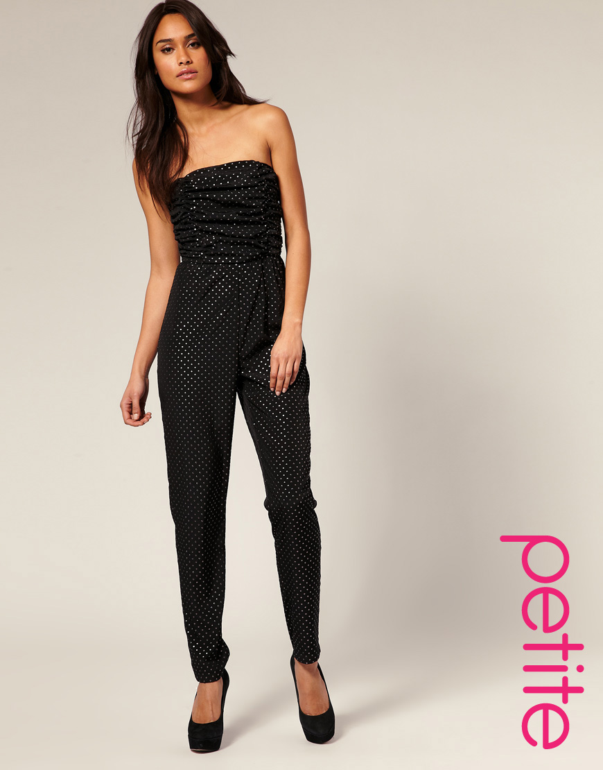 72cc577a4413 Lyst - ASOS Collection Asos Petite Embellished Pleated Bust Jumpsuit ...