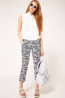 ASOS Collection Asos Cropped Trousers in Paisley Print - Lyst