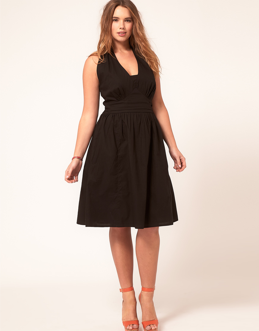 82ae1641c30 Asos Curve Summer Dress With Halterneck In Red Lyst