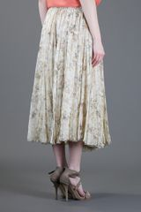 Chloé Floral Print Long Skirt in Floral - Lyst
