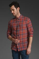 Closed Plaid Shirt - Lyst