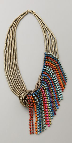 Dannijo Galapagos Necklace in Multicolor (multi) - Lyst