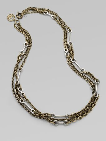 Giles & Brother Archer Multi-chain Necklace - Lyst