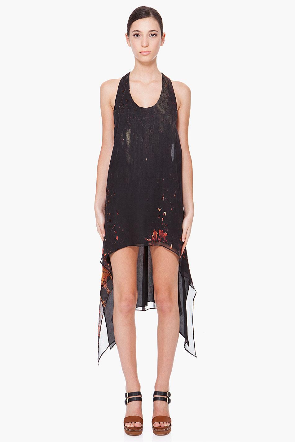 lyst kimberly ovitz black silk zen dress in black