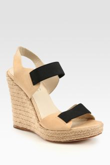 Kors By Michael Kors Windsor Leather Slingback Espadrille Wedge Sandals - Lyst