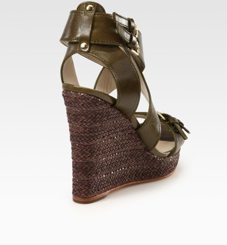Kors By Michael Kors Westby Leather Espadrille Wedge