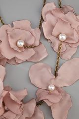 Lanvin Silk Flower Necklace in Pink - Lyst