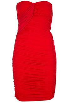 Lanvin Strapless Dress - Lyst