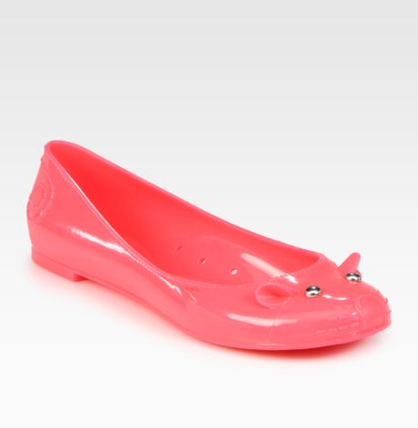 Marc By Marc Jacobs Jelly Mouse Ballet Flats in Pink (fuchsia)