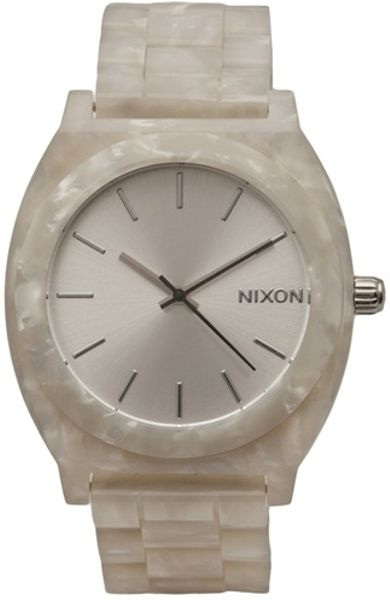 Nixon Time Teller Watch in Beige (pearl)